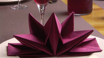 Paper Napkin Folding Star Precreased Bordeaux Case 12