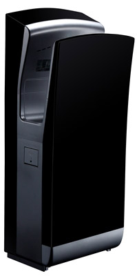 Blade hand dryer air pulse pro matte black steel