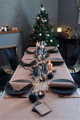 Paper tablecloth Christmas roll bronze 1,20x5 m