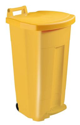 Recycling bin Rossignol 90 L yellow kitchen