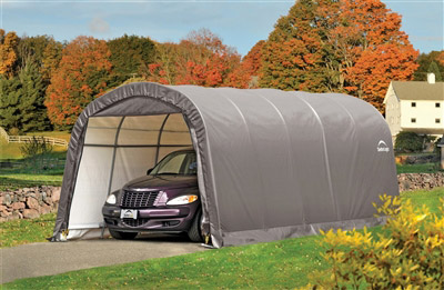 Garage car demountable steel structure and polyethylene 3.7 x 6.1 m