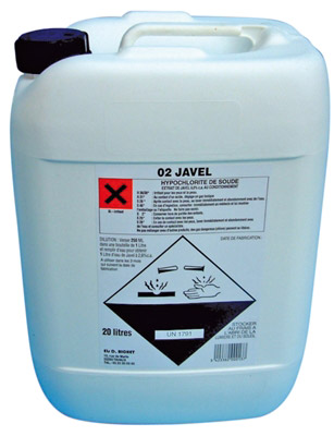 Chlorine Bleach Concentrated 36 Degrees Commercial Container With 20 L