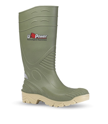 Green safety boot Upower elfo S5 SRC