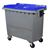 Acheter 770-liter 4-wheel waste bin, Blue lid, central lift system
