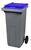Acheter 120-liter 2-wheel waste bin, Blue, Front lift system