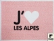 Acheter Set disposable paper deco I Love The Alps 30 x 40 packs 500