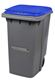 Acheter 2 wheels roll container 340 L blue lid ventral bar