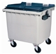 Acheter 4 wheel waste containers 1000 Liters gray front socket