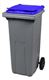 Acheter 2 wheel waste container 120L blue front socket