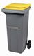Acheter 2 wheel waste container 120 liter yellow lid ventral bar