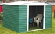 Acheter Garden shed Arrow painted steel 10m2 green white