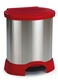 Acheter A steel pedal bin 87 liter red Rubbermaid