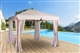 Buy Exotic wood garden arbor Riviera 3X3 mosquito curtains