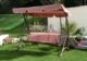 Acheter 3 seater garden swing seat Textilene Miami burgundy
