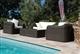 Buy Garden resin round wire braided Mikonos prestige 4 places