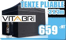Folding Tent Vitabri standard black 3x3