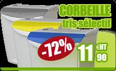 Selective sorting trash built modular Elitri gray Rossignol 25L
