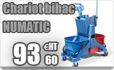 Chariot household BIBAC Numatic with press