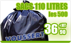 Garbage bag 110 liters gray high density package 500