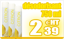 Dry deodorant spray 750 ml aerosol lemon