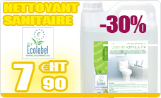 Cleaning sanitary DETARTRANT ecological Ecolabel green 5L