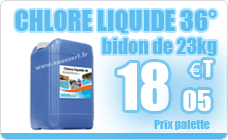 Professional pool chlorine liquid can pool product 36 ° 23 kg