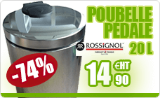 A pedal bin Rossignol 20L stainless steel