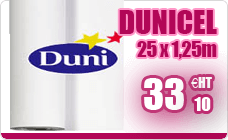 Dunicel white roller nonwoven Duni 1.25 x 25 m