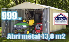 Metal garden shed galvanized Arrow 13.8 m2
