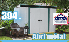 Metal garden shed 3.57 m2 galvanized Arrow