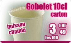 Hot drink cup 10 cl white cardboard pack of 100