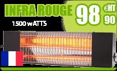 Infrared heating terrace BRC 1500 Black W