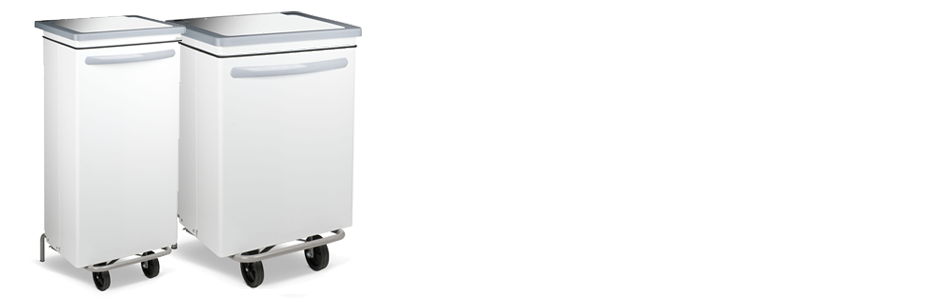 HACCP trash white kitchen 70l steel