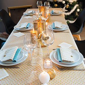 Tablecloth Christmas constellation gold